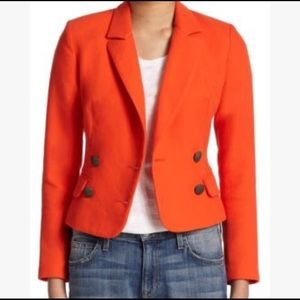 Used, Laveer Petite Kadette orange blazer for sale